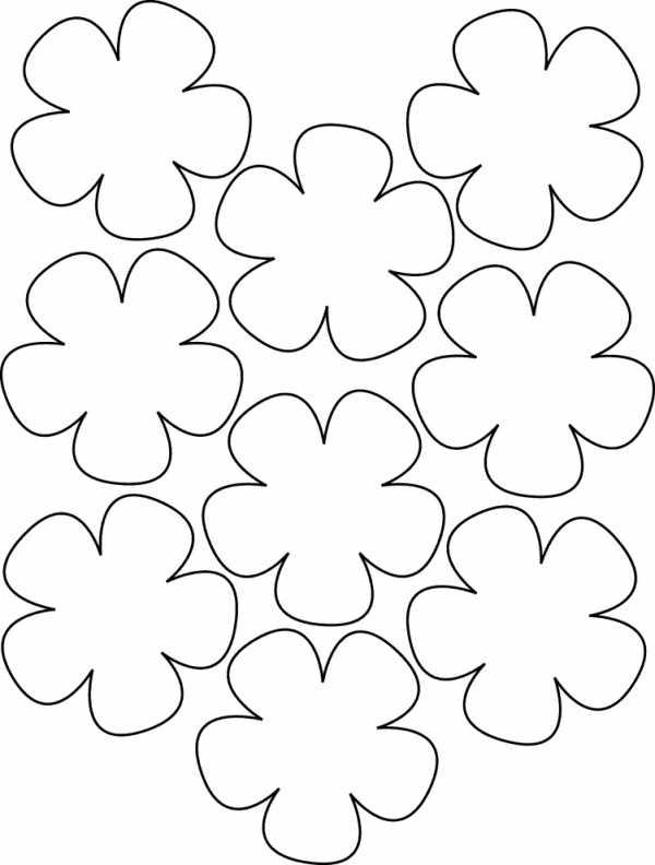 шаблоны цветов для распечатки на принтере